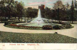 Fountain, East Parlk Postcard
