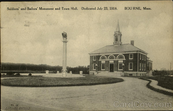 Soldiers And Sailors Monument And Town Hall Bourne Massachusetts