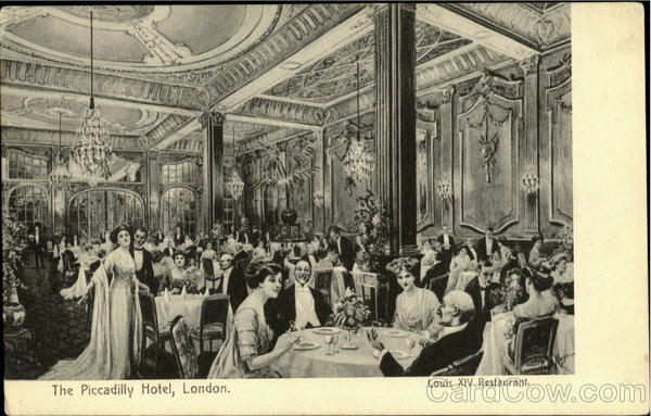 The Piccadilly Hotel Louis Xiv Restaurant London England