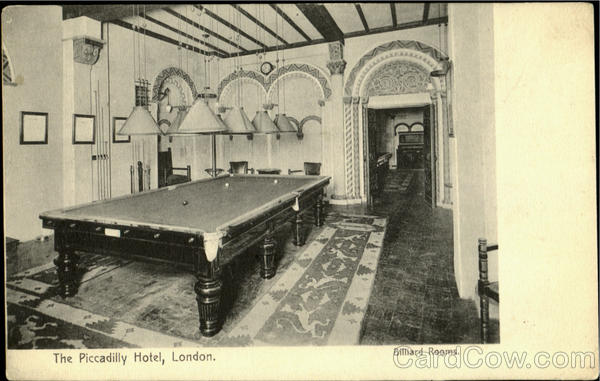 The Piccadilly Hotel Billiard Rooms London England
