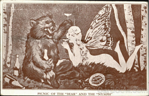 Picnic Of The Bear And The Nymph New York City Advertising