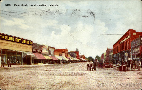 Grand Junction Main Street editorial stock image. Image of