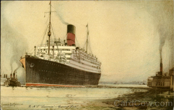 R. M. S. Laconia Cunard Line Boats, Ships