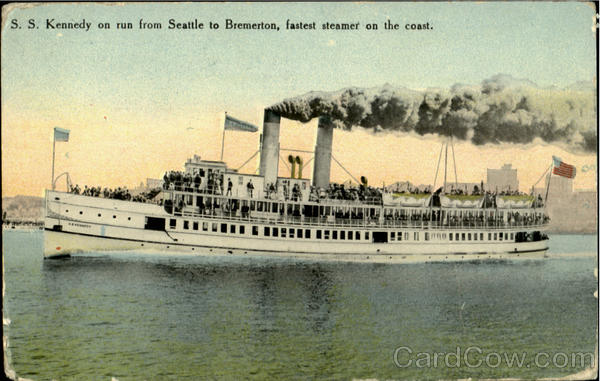 S. S. Kennedy On Run From Seattle To Bremerton Steamers