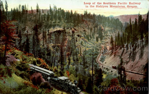Loop Of The Southern Pacific Railway Oregon Trains, Railroad