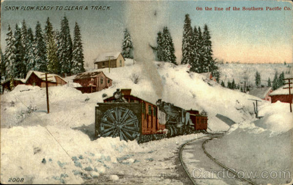 Snow Plow Ready To Clear A Track Trains, Railroad