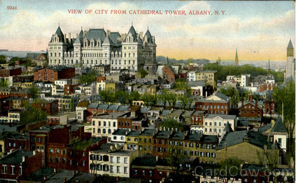 View Of City From Cathedral Tower Albany New York
