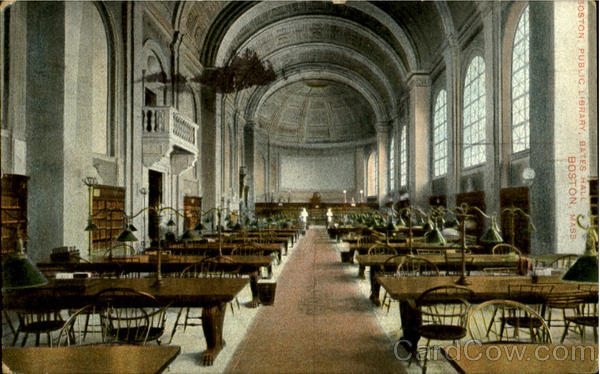 Boston Public Library, Bates Hall Massachusetts