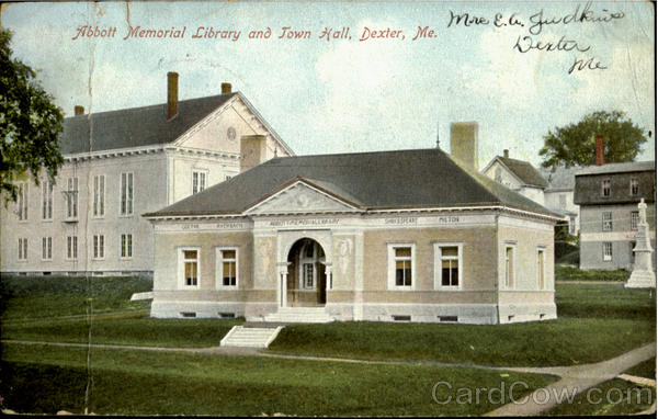 Abbott Memorial Library And Town Hall Dexter Maine