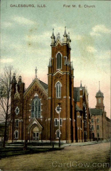 First M. E. Church Galesburg Illinois