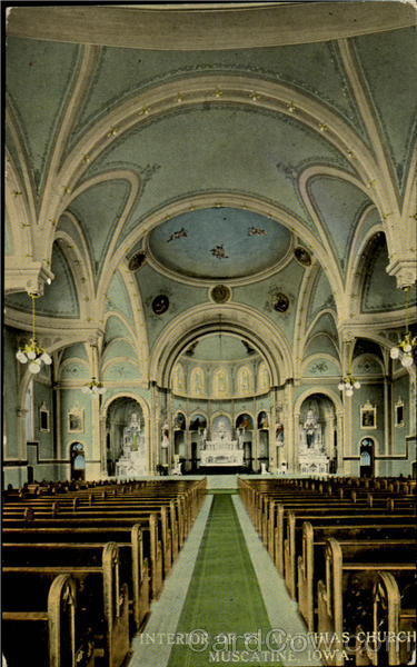 Interior Of St. Matthias Church Muscatine Iowa
