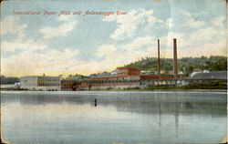 International Paper Mills And Androscoggin River Postcard