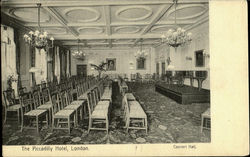 The Piccadilly Hotel Concert Hall Postcard