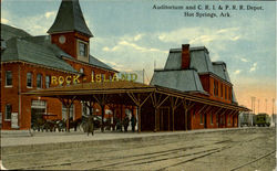 Auditorium And C. R. I. & P. R. R. Depot