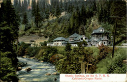 Shasta Springs On The S. P. R. R., California - Oregon Route