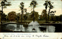 Lake At Sam Houston Park Postcard