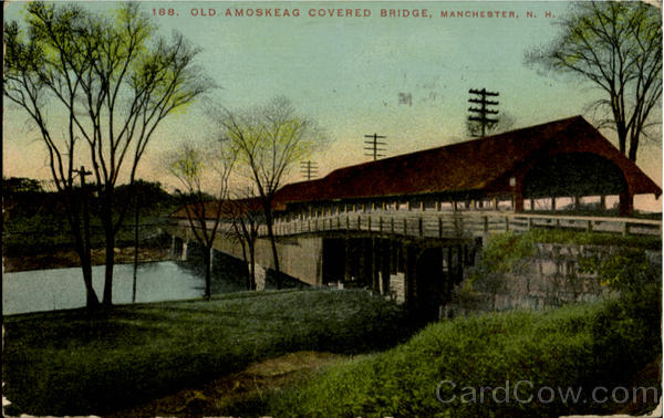 Old Amoskeag Covered Bridge Manchester New Hampshire