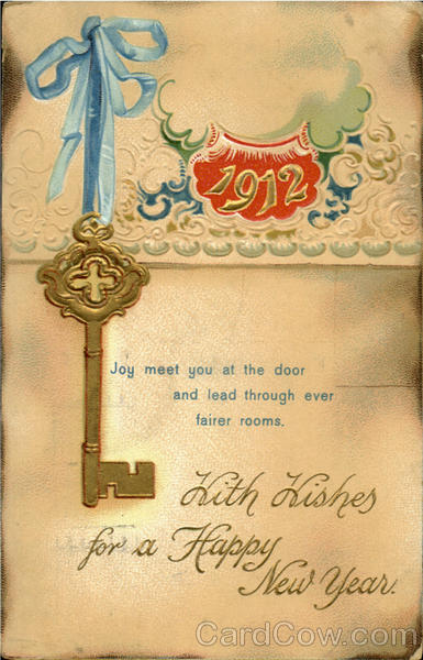 1912 With Wishes For A Happy New Year New Year's