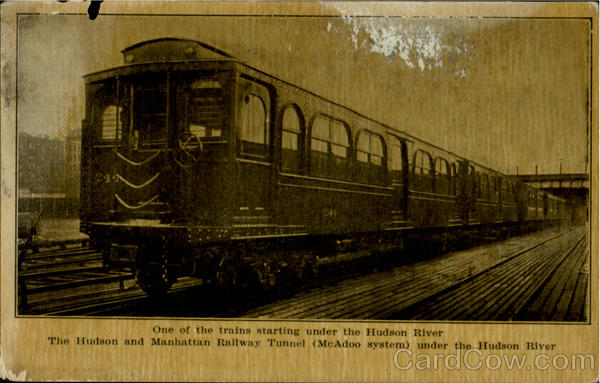 One Of The Train Starting Under The Hudson River Trains, Railroad