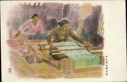 Asian Women Weaving