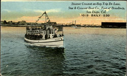 Steamer Crescent On Bay Trip De Luxe