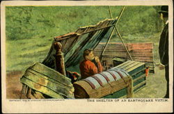 The Shelter Of An Earthquake Victim Postcard