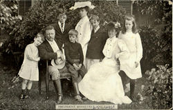 President Roosevelt And Family