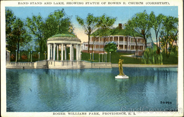 Band Stand And Lake, Roger Williams Park Providence Rhode Island
