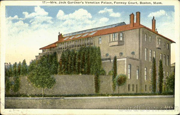 Mrs. Jack Gardner's Venetian Palace, Fenway Court Boston Massachusetts