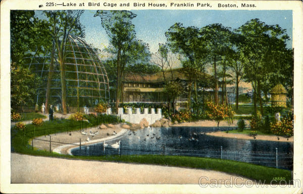 Lake At Bird Cage And Bird House, Franklin Park Boston Massachusetts