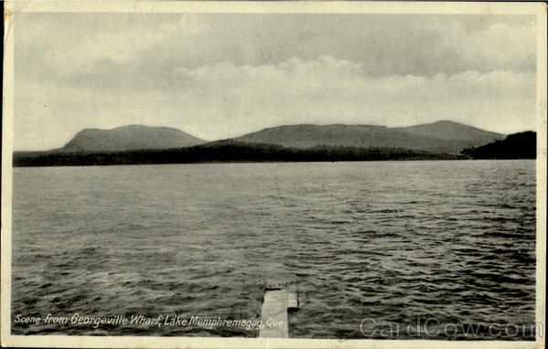 Scene From Georgeville Wharf Lake Memphremagog Quebec
