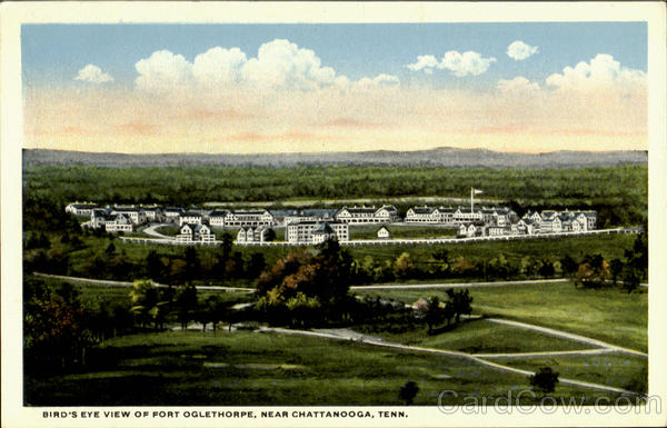 Bird's Eye View Of Fort Oglethorpe Near Chattanooga Tennessee