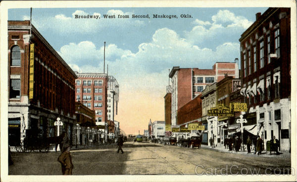Broadway West From Second Muskogee Oklahoma