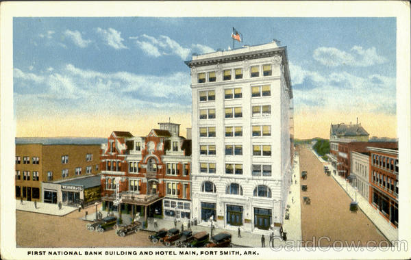 First National Bank Building And Hotel Main Fort Smith Arkansas