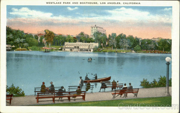 Westlake Park And Boathouse Los Angeles California