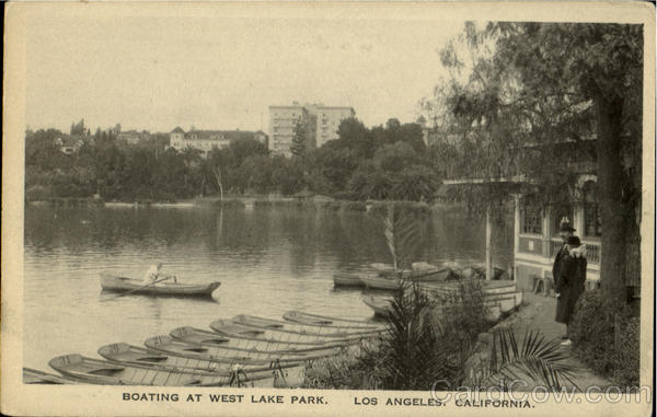 Boating At West Lake Park Los Angeles California