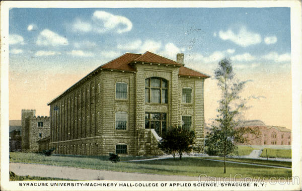 Syracuse University Machinery Hall, College of Applied Science New York