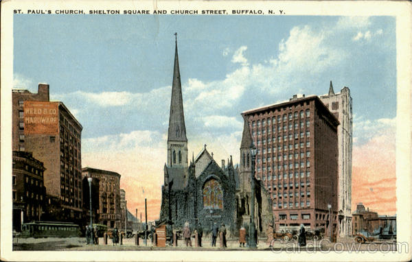 St. Paul's Church, Shelton Square and Church Street Buffalo New York