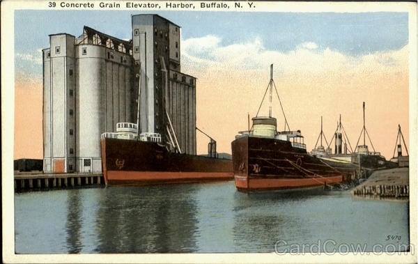 39 Concrete Grain Elevator, Harbor Buffalo New York