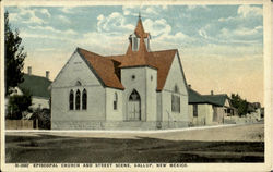 Episcopal Church And Street Scene