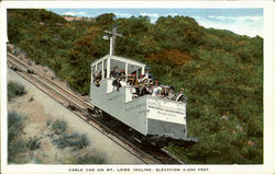 Cable Car On Mt. Lowe Incline