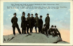 Gen. Thomas And Staff On Lookout Mountain