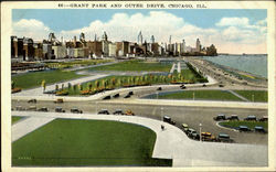 Grant Park And Outer Drive Postcard