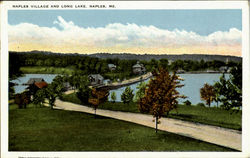 Naples Village And Long Lake Postcard