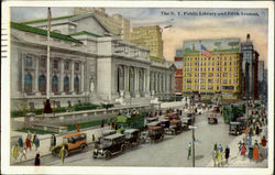 The N. Y. Public Library And Fifth Avenue