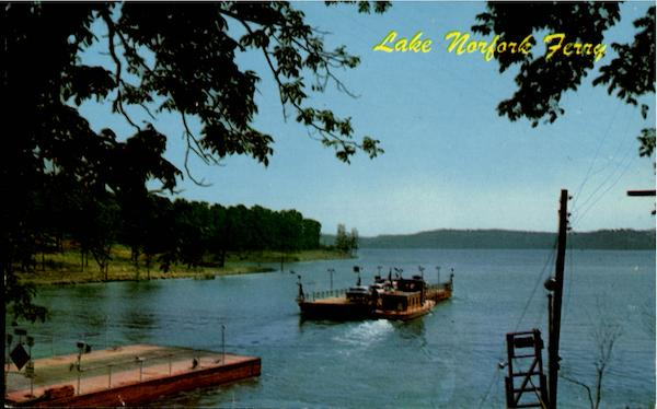 Lake Norfork Ferry, U. S. Highway 62 and 101 Free Ferry Ozarks Arkansas