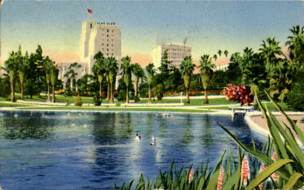 Elks Club And Scenic Beauty If Mac Arthur Park Los Angeles California