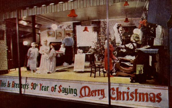 Christmas Window At Breuner's California