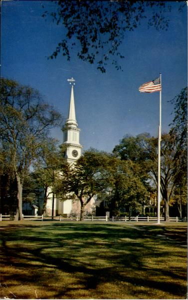 Congregational Church And Town Green Cape Cod Massachusetts