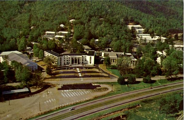 Aerial view of ridgecrest baptist conference center north carolina
